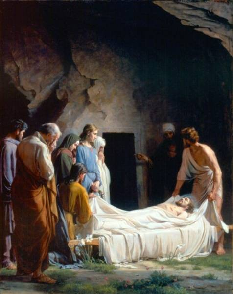 Carl Heinrich Bloch The Burial of Christ